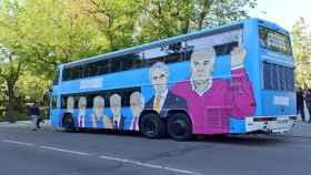 El 'tramabús' de Podemos que circula por Madrid