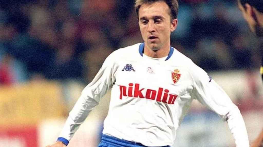 Juanele, en su etapa de jugador del Zaragoza.
