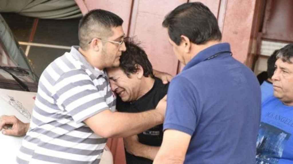 El padre de Emanuel, Raúl Balbo, quien sufrió la muerte de su hijo Agustín en noviembre de 2012.