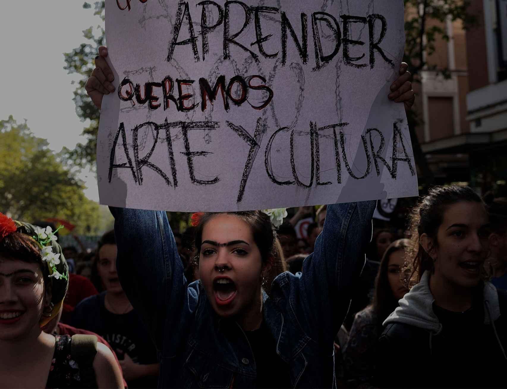 Manifestación de alumnos, el pasado octubre.