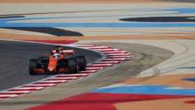 Fernando Alonso, durante el GP de Bahréin.