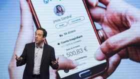 Gonzalo Gortázar, consejero delegado de CaixaBank,  en la presentación de ImaginBank, el banco de los 'millennials' de la entidad.