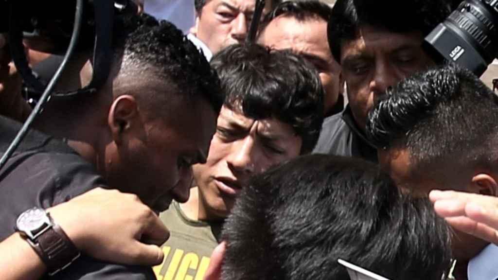 Momento de la detención de Jhon Taylor Pizarro.