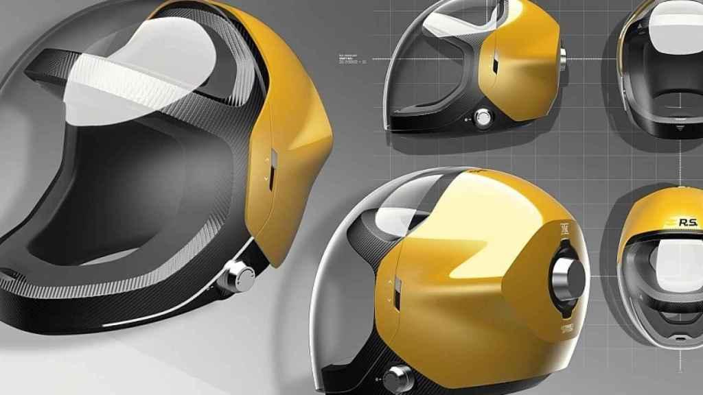 Cascos transparentes diseñados por Renault.