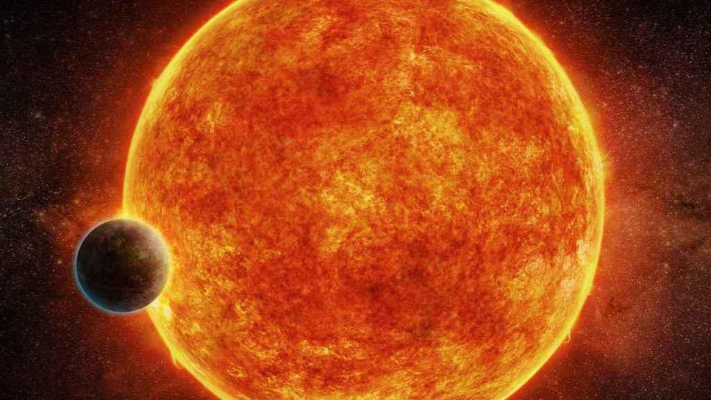 Ilustración del nuevo exoplaneta rocoso descubierto: LHS 1140b.