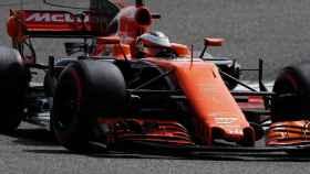McLaren rueda en Bahréin.