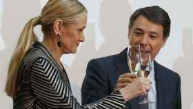 Cristina Cifuentes con Ignacio González.