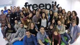 El equipo de Freepik en Málaga.