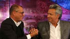 Lenín Moreno, junto al presidente Rafael Correa.