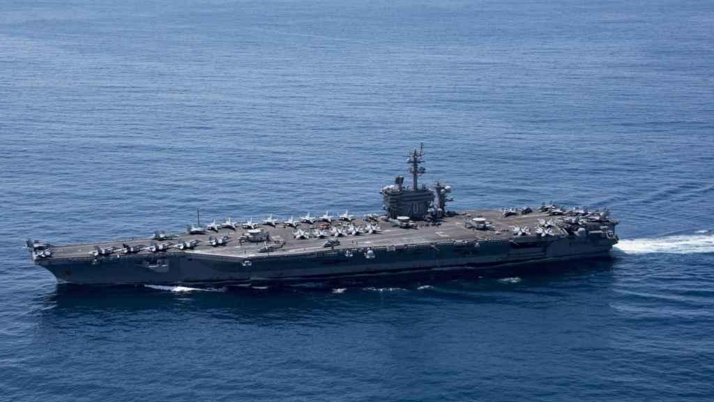 El portaaviones de EEUU USS Carl Vinson.