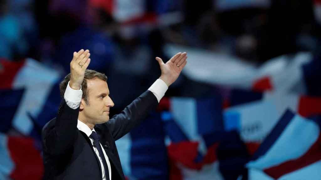 Emmanuel Macron, en un acto de campaña.