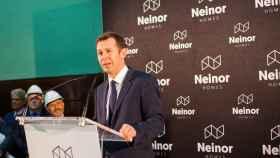 Juan Velayos, consejero delegado de Neinor Homes, en la salida a bolsa del pasado 29 de marzo.