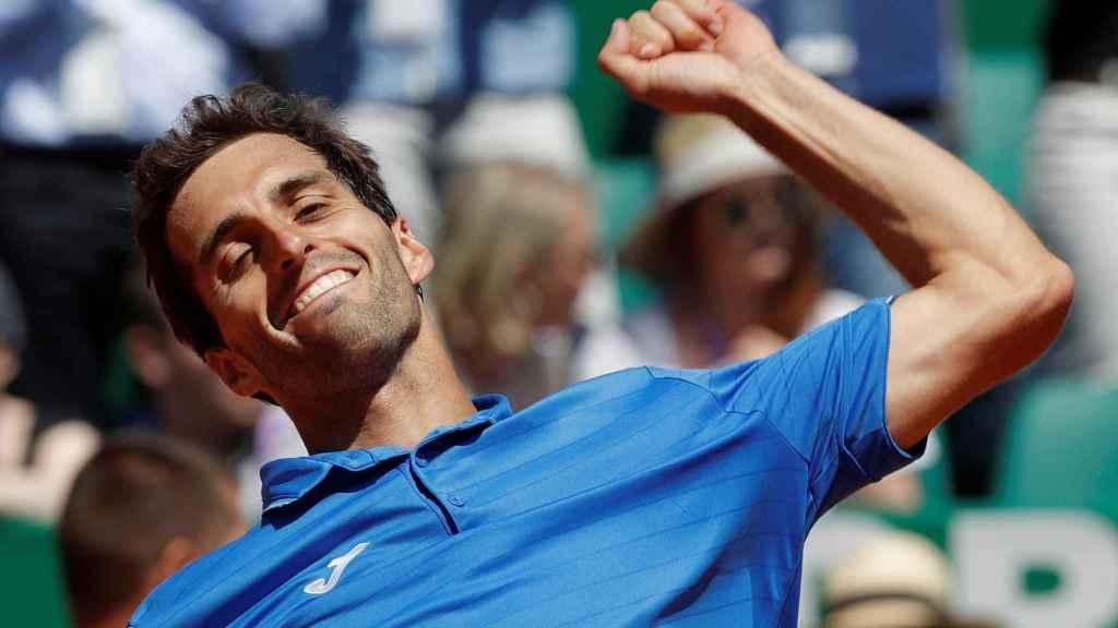 Ramos, celebrando su victoria ante Murray en Montecarlo.