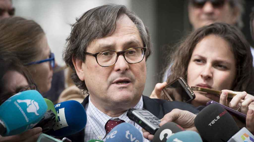 Francisco Marhuenda a la salida de la Audiencia Nacional.