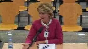 Esperanza Aguirre durante su declaración en la Audiencia Nacional.
