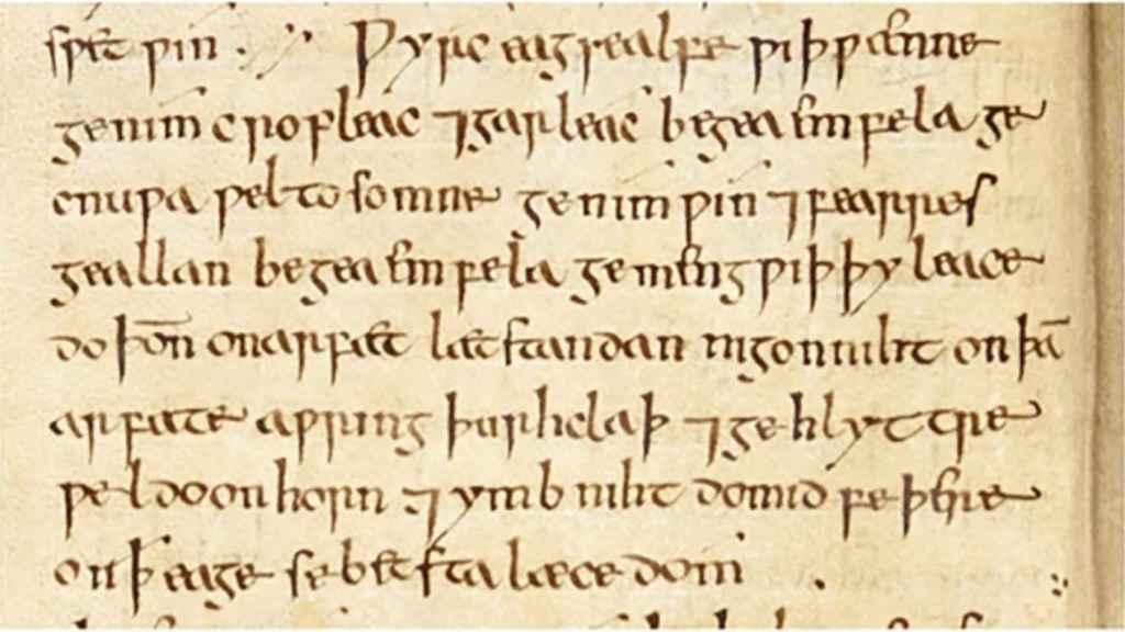 Una imagen del tratado de medicina de la antigüedad.