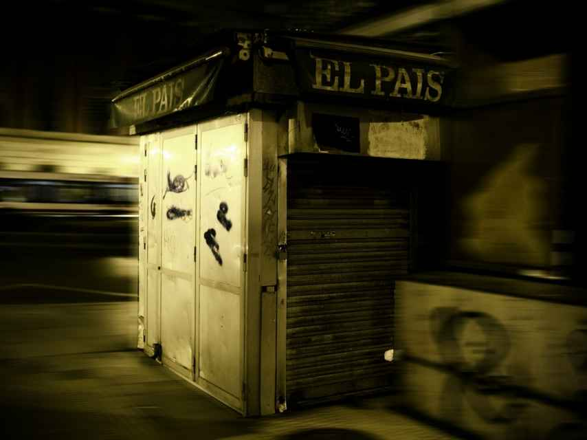 Kiosco de la Plaza del Carmen, en Gijón. Tremenda metáfora, ¿eh?