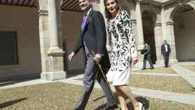 Los reyes Felipe y Letizia, durante la entrega del premio Cervantes.