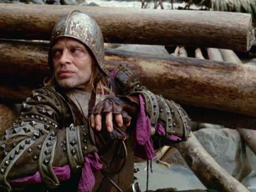 Klaus Kinski como Lope de Aguirre en Aguirre, la cólera de Dios, de Werner Herzog.