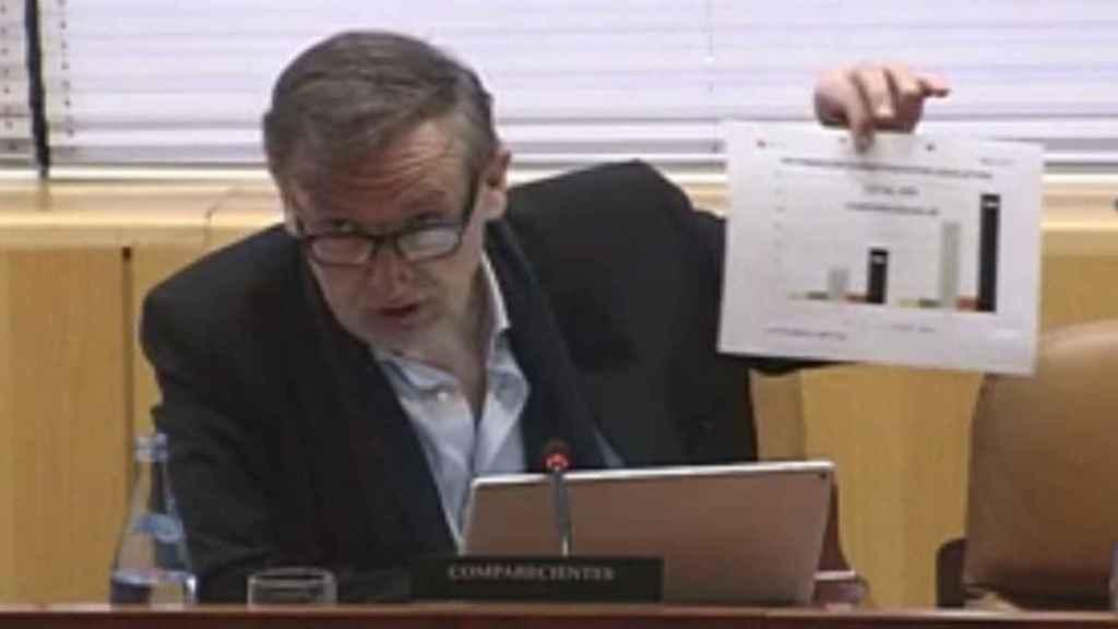 Ildefonso de Miguel, en una comparecencia en la Asamblea de Madrid.