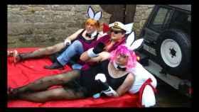 Don Juan Carlos disfrutó del carnaval disfrazado del dueño de Playboy.