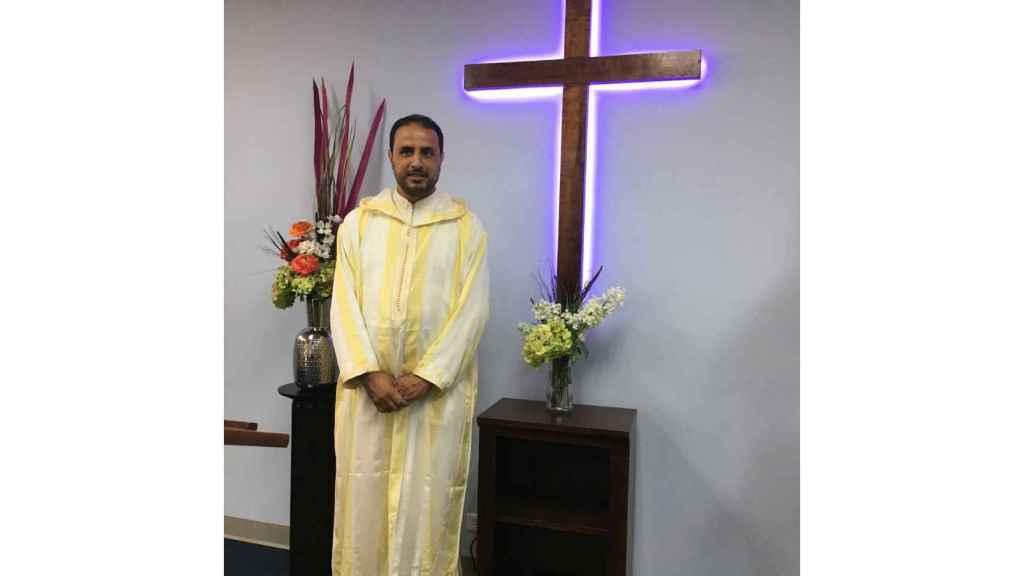 Mustapha Susi en una iglesia en EEUU.