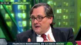 Marhuenda, durante la entrevista en La Sexta Noche