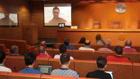 Videoconferencia de Jon Rahm este viernes.