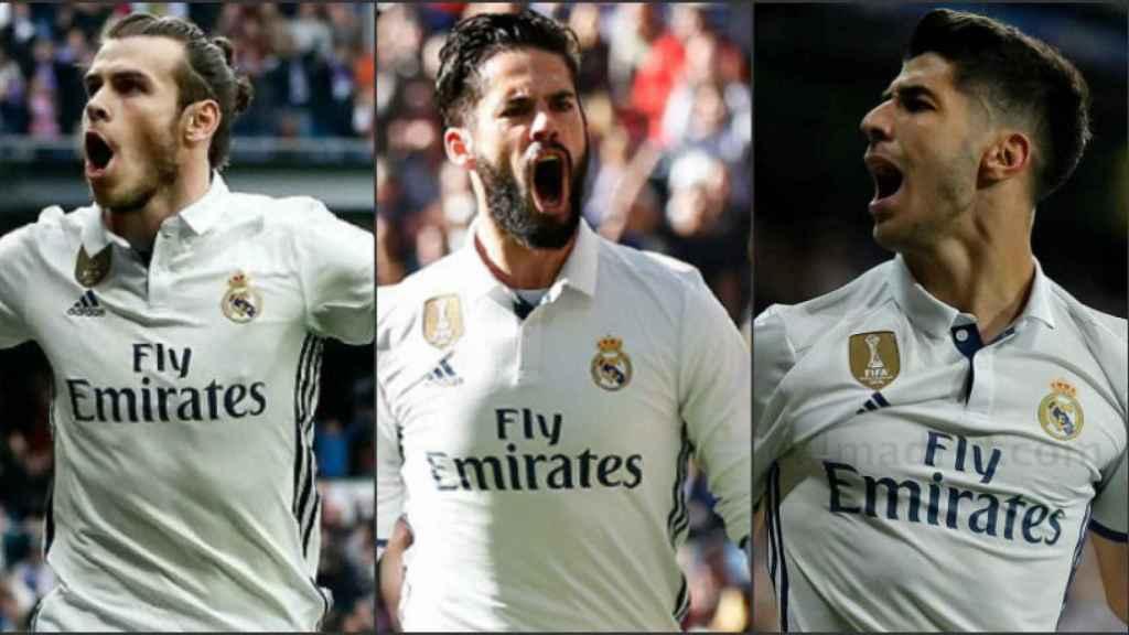 Bale, Isco y Asensio