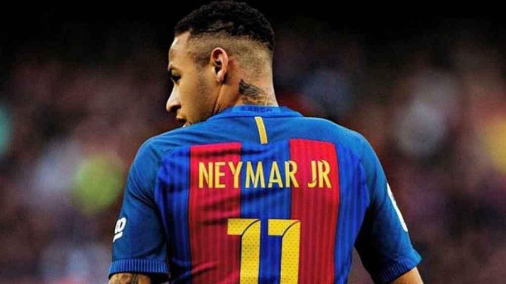 Neymar, en un partido con el Barça. Foto. Twitter (@neymarjr)