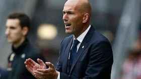 Zidane, en El Molinón