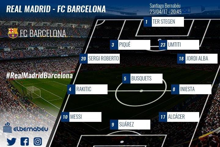 La alineación del Barça: Alcácer será Neymar