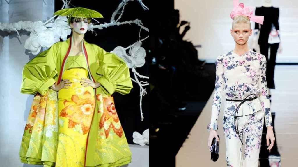 Looks de Dior y Armani inspirados en la estética oriental. | Foto: GTRES.