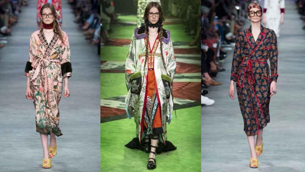 Looks de Gucci vistos en las colecciones de hombre para primavera 2016 y 2017. |Foto. GTRES.