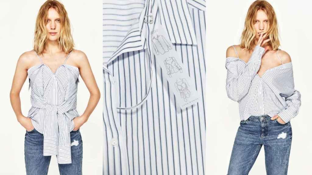 Así es el nuevo diseño de Zara, una camisa muntifuncional. |Foto: cortesía de la marca.