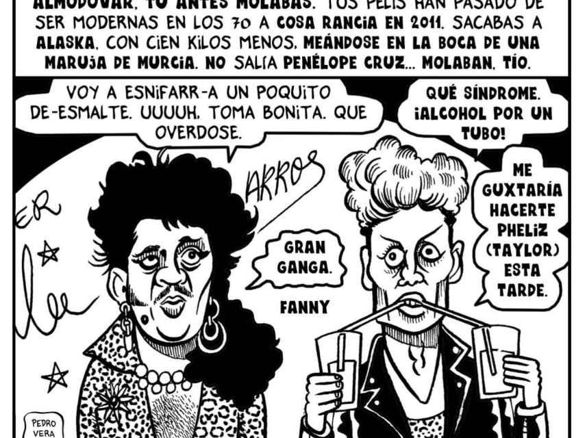 Una de las viñetas de Ortega y Pacheco. Pedro Vera.