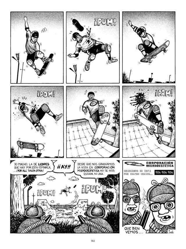 Una de las historietas de Ortega y Pacheco, de Pedro Vera.