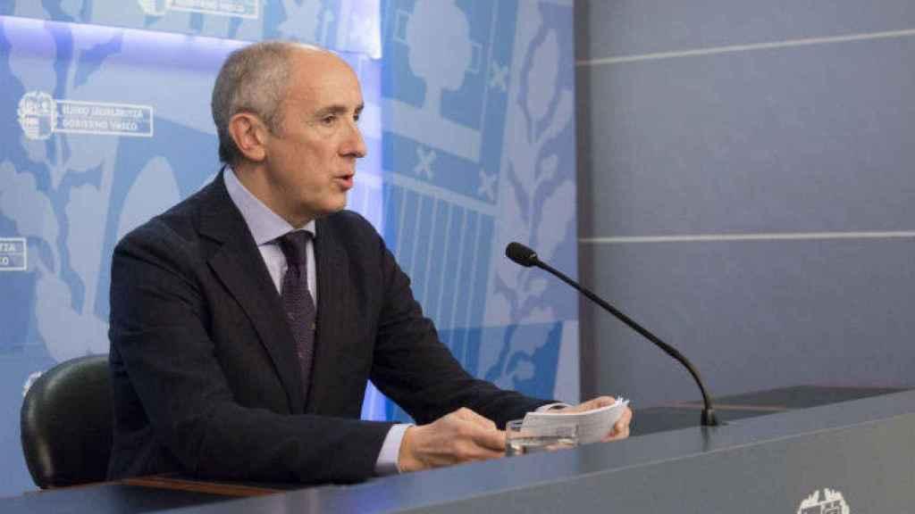 El portavoz del Gobierno vasco, Josu Iñaki Erkoreka.