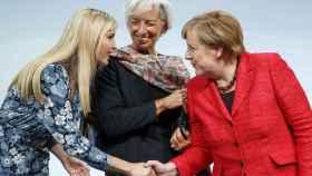 Ivanka Trump, Christine Lagarde y Angela Merkel en su debate en el W20.