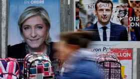 Le Pen y Macron, contendientes en la segunda vuelta de las presidenciales.