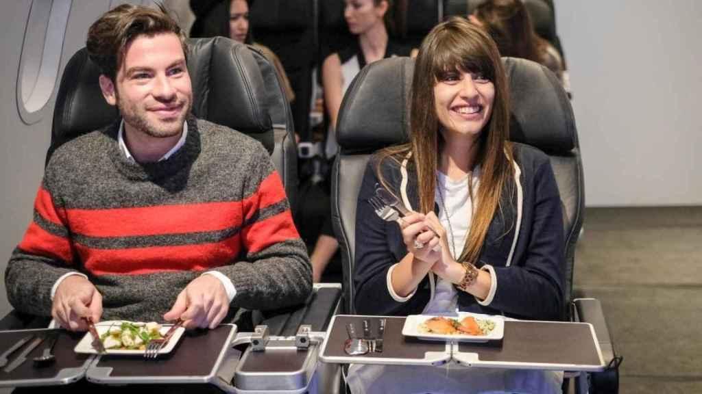 restaurante comida de avion