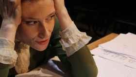 La actriz Clara Sanchís en Una habitación propia, en el Teatro Español a partir de mañana.