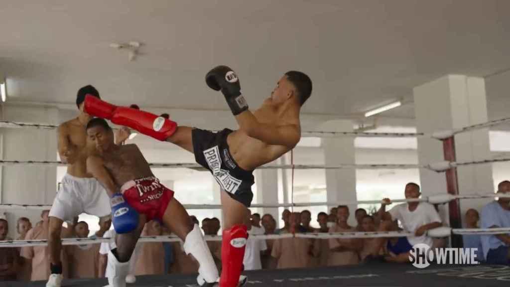 Uno de los entrenamientos del programa Prison Fight en una cárcel de Tailandia.