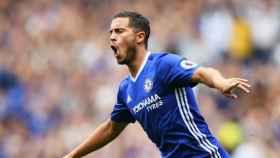 Hazard celebra un gol con el Chelsea. Foto: chelseafc.com