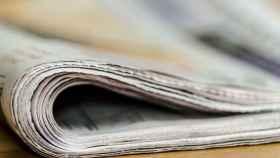 Fotografía de un periódico.