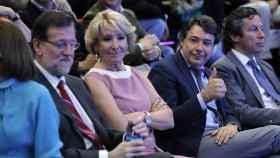 Mariano Rajoy, Esperanza Aguirre, Ignacio González y Carlos Floriano en un acto en 2014.