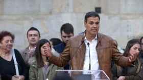 Pedro Sánchez, en un mitin este miércoles en Pontevedra.