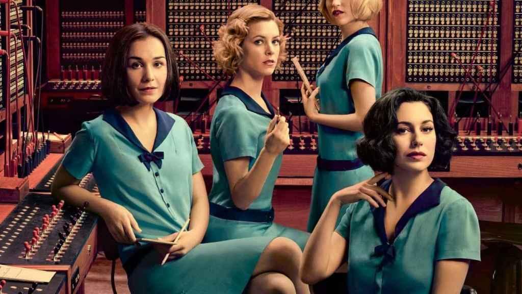 Las cuatro protagonistas de Las chicas del cable.
