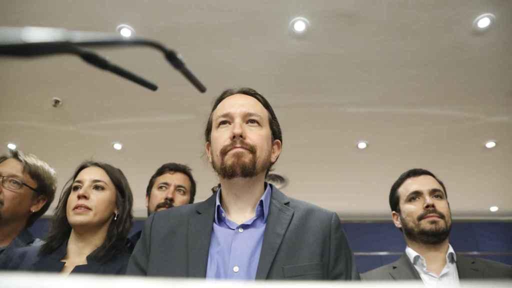 Pablo Iglesias ha comparecido este jueves en rueda de prensa en el Congreso.