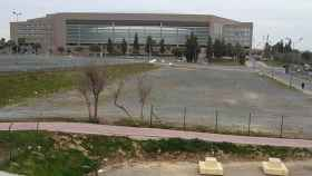 Inmediaciones del estadio de la Cartuja, donde se produjo la agresión